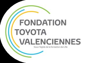 Logo de la Fondation Toyota Valenciennes, sous égide de la Fondation de Lille