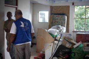 Intervention du Secours Populaire Français après le passage de l'ouragan Irma, financée par la Fondation de Lille