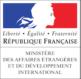 Logo du Ministère des Affaires Etrangères, partenaire du Prix Littéraire Alain Decaux de la Francophonie organisé par la Fondation de Lille